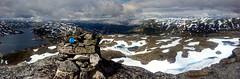 DSC_0752-PANO Haukelifjell (JarleB) Tags: haukelifjell haukeli svandalsflona topp varde høyfjellet røldal sommer snø utsikt stavsrustene røldalstrimmen røldaltrimmen