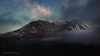Volcanic Magic (Stephanie Sinclair) Tags: milkyway mtsthelens nationalvolcanicmonument usdepartmentoftheinterior washingtonstate astrophotography clouds findyourpark fog mood mountains nightphotography pano panorama seattleempress stephaniesinclairphotography volcano