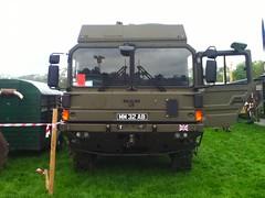 British Army MAN SV, Shanes Castle, 2014 (nathanlawrence785) Tags: psni police car audi antrim giro ditalia gran fondo 2014 british army man sv crane jcb logistics wmik