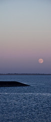 Moonrise (Naniel ) Tags: sea moon beach water strand germany landscape deutschland mond wasser moonrise northsea landschaft nordsee niedersachsen lowersaxony eckwarden jadebusen mondaufgang butjadingen eckwarderhrne