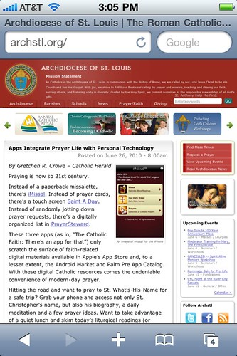 Archdiocese of St. Louis on iPhone 4
