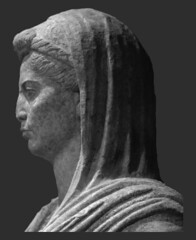 Portrait of a Roman Lady (Profile: Worcester) (Roger B. Ulrich) Tags: octavia velate nodus worcesterartmuseum augustan romanportraiture romanwomen inv197878