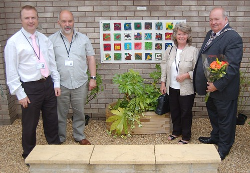 Whickham Library Garden Mosaics unveiling Jun 10 16