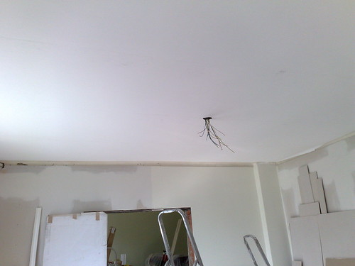 Repaired livingroom ceiling