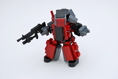 Blood Skull Hardsuit (Ironsniper) Tags: red skulls army war gun badass mecha hardsuit