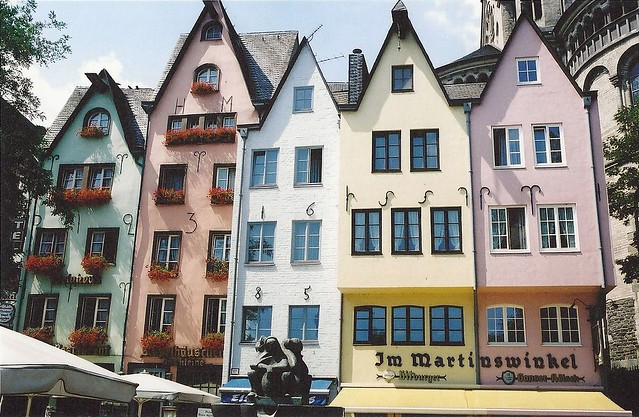 Coloured Houses, Cologne, Germany