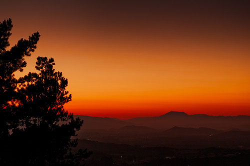 Mount St. Helena at Sunset