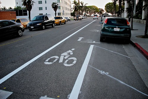 New Bike Lane Extension On Arizona Ave.