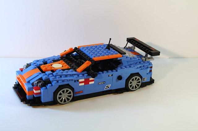 aston martin db9 dbr9 racer gulf gulfracing lego miniland moc auto car lemans model lugnuts uk england godsavethequeen 2008