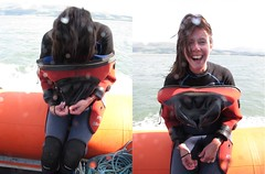 its a girl! (squeezemonkey) Tags: sea boat diver drysuit anglesey ukdiving holborndiver