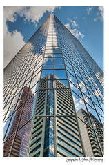 I Have All My Sisters With Me (Jacqueline A. Sheen Photography) Tags: calgary glass clouds reflections downtown skyscrapers glasstowers utatafeature yourbestoftoday