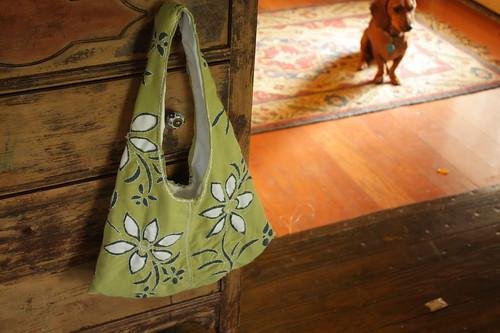 hand stitched bag