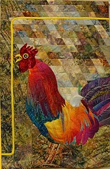 """Khanh Bui - Rooster With Attitude 47"""" x 30 """""""