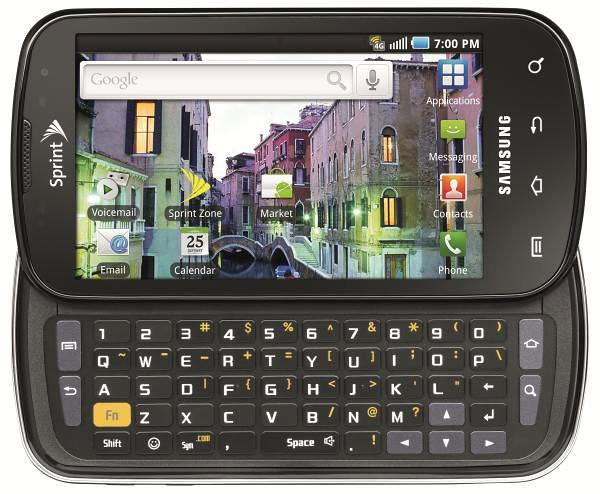 Samsung Epic 4G, conectividad 4G y teclado  QWERTY en un teléfono<br /> Android