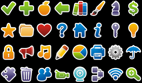 Iconos Colorful Stickers