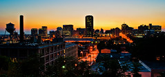 Richmond Skyline at Sunset (Ty Johnson Photography) Tags: city sunset urban skyline buildings nikon richmond d3000