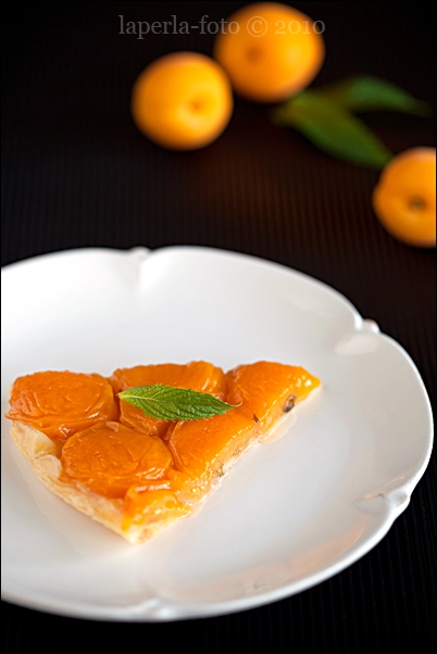 Tart with Apricot and mint1