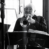 Jazz players musicians trumpet player traditional trad jazz photography photo Mark Riley Cardwell Cardiff Journalism student