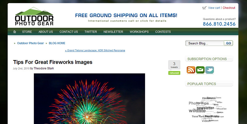 Want To Take Great Fireworks Photos? Check out my article at Outdoor Photo Gear