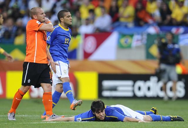 Brasil Holanda Wesley Sneijder Kaká
