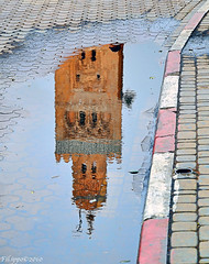 """Apres moi le deluge"" /""After me, the flood"" (Fil.ippo (on vacation)) Tags: water puddle mosque morocco marocco marrakech acqua fi"