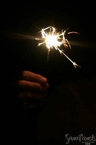 Matt with Sparklers