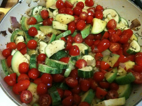 Squash and tomatoes
