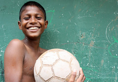 Worldcup fan (martien van asseldonk) Tags: boy football soccer srilanka worldcup negombo iloveyoursmile martienvanasseldonk