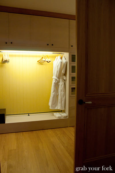 wolgan valley bathrobes in walk-in wardrobe