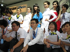 2010 Shenzhen International Auto Show (zikay's photography(no PS)) Tags: girl model exhibition 车展 模特 走光 车模 露底