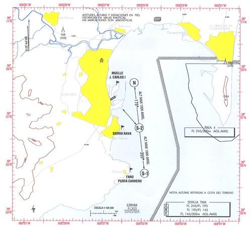 Maniobra de aproximación al helipuerto de Algeciras