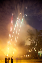 Roman Candles (Nick, Programmerman) Tags: people fireworks friendshouse romancandles 24105 5dii