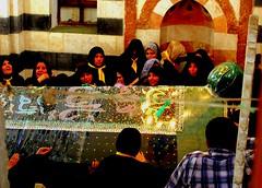 Iranian pilgrims at the Tomb of Bilal al-Habashi (bolbolaan) Tags: black tears mourning tomb crying syria shia screaming ، chador سورية دمشق الشام زوار iranianpilgrimsdamascus bilalalhabashi عذاداری بلالالهبشی ايرانين