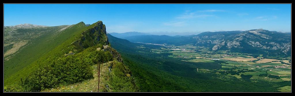 Cresta desde la cima de Satrústegui