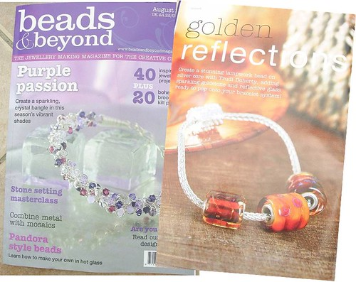 B&B Golden Reflections Silver Core Bead