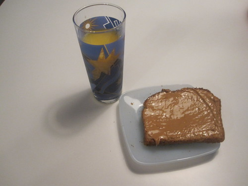 PB toast, orange juice