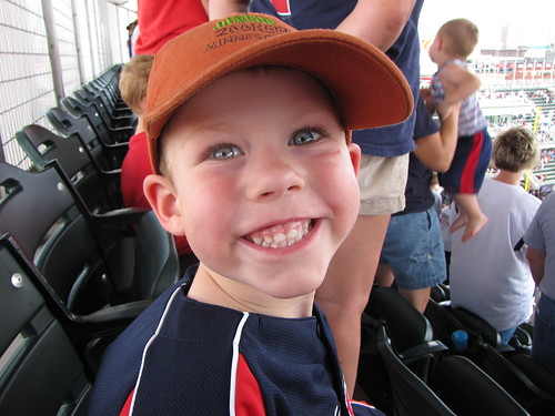 Benjamin at the Twins Game
