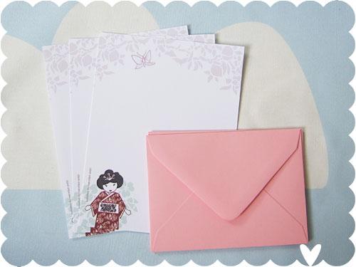 Geisha Letter Set