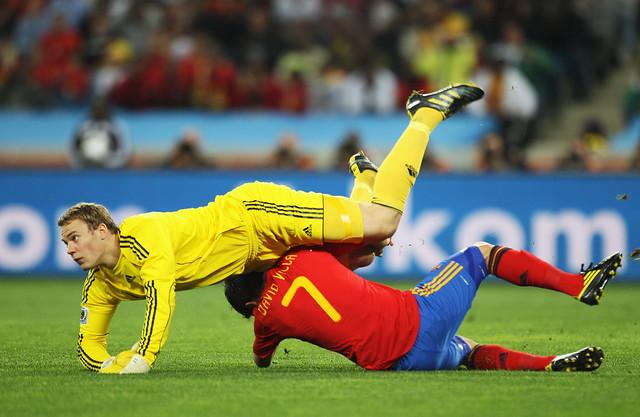 España Alemania Semifinal David Villa