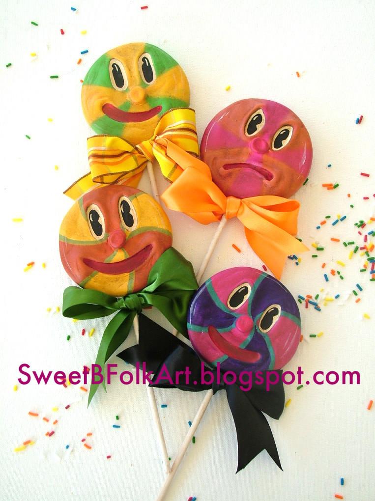 Sweet B FOlk Art Lollipop Babies