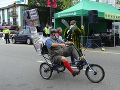 Go to Mass Often (knightbefore_99) Tags: street old festival vancouver crazy tricycle mass critical commercialdrive eastvan thedrive carfreeday