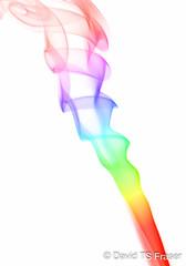 Rainbow smoke (HaliUser) Tags: rainbow smoke whitebackground