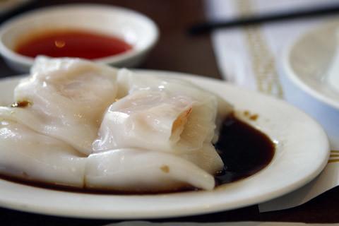 Shrimp in Rice Noodle Rolls