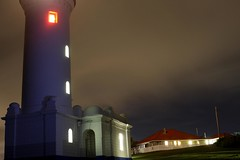 Roxanne (pominoz) Tags: red lighthouse building night lights nsw centralcoast norahhead