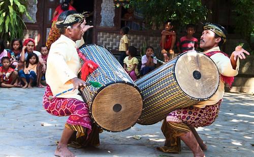 Gendang Beleq Traditional Dance ~ Rambitan Village. Lombok, Indonesia 2010