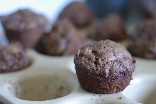 Chocolate Chocolate Zucchini Muffins
