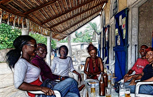 Sketch from Ivory coast :Bassam Pub