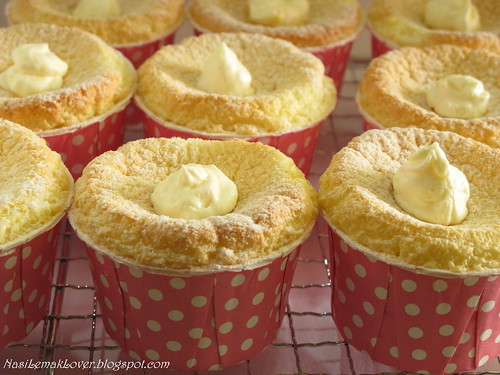 Japanese Hokkaido Cake Recipe: Nasi Lemak Lover: Hokkaido Chiffon Cupcakes