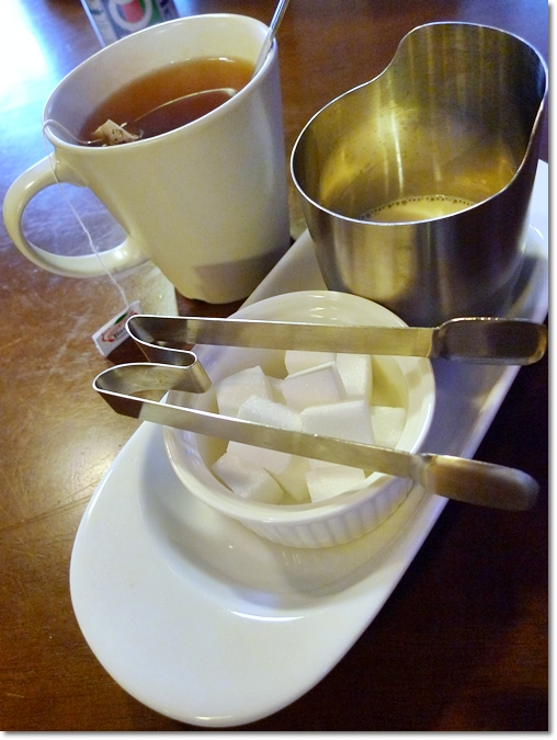 Milk Tea with Sugar Cubes