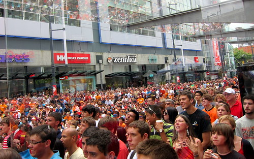 FIFA World Cup Final on Granville Street in Vancouver, Canada
